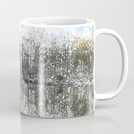 Early Morning Snow Forest Pond Art Coffee Mug