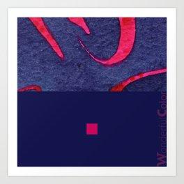 red&blue3 Art Print