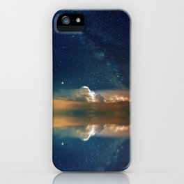 Sailboat in Space (Color) iPhone Case