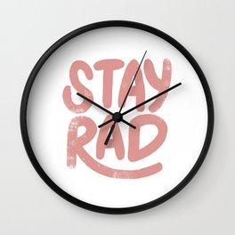 Stay Rad Vintage Pink Wall Clock