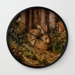 A Hare In The Forest Hans Hoffmann Wall Clock