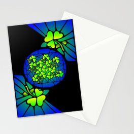 Stained Glass Shamrocks Stationery Cards