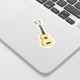100 Days of Sunlight - Yellow Ukulele Sticker