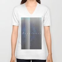 happiness V-neck T-shirts featuring Happiness by Jane Lacey Smith