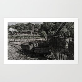 Coal Wagons Art Print