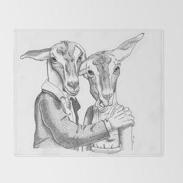 Goats Throw Blanket