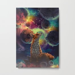 The Fox on the Planets Metal Print