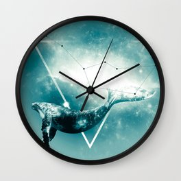 The Whale - Blu Wall Clock