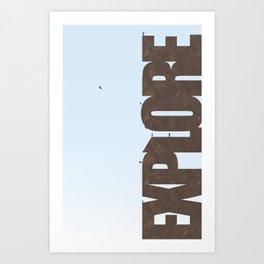 Explore Climbing 2 Art Print