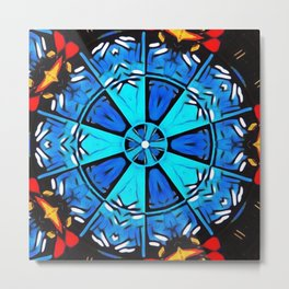 Inspirational Abstract Mandala Metal Print