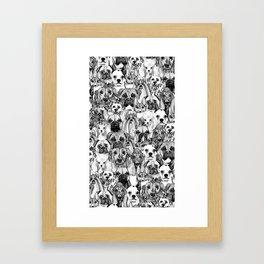 christmas dogs Framed Art Print