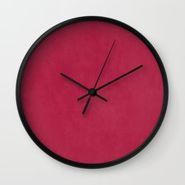 Modern girly magenta pink faux leather pattern Wall Clock