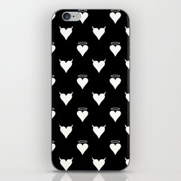 DEVIL & ANGEL HEARTS iPhone Skin