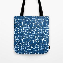 Classic Blue Giraffe Tote Bag