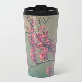 Spring Botanical -- Eastern Redbud Tree in Flower Vintage Travel Mug