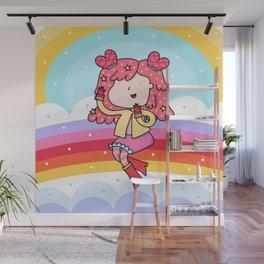 Rainbow Girl Wall Mural