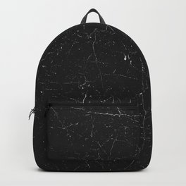 Black distressed marble texture Backpack