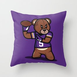 The Victrs - Teddy Football Throw Pillow