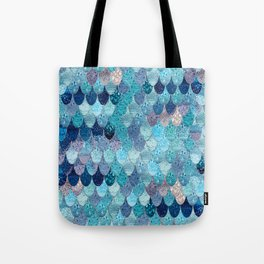 SUMMER MERMAID DARK TEAL Tote Bag