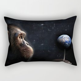 """HAM"" The Astrochimp Rectangular Pillow"