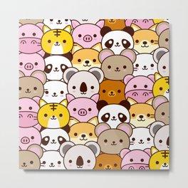Cute baby animals  Metal Print