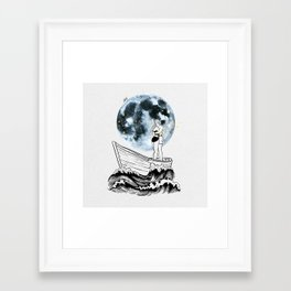 Night above the moon. Framed Art Print
