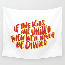 Kids United - White Wall Tapestry
