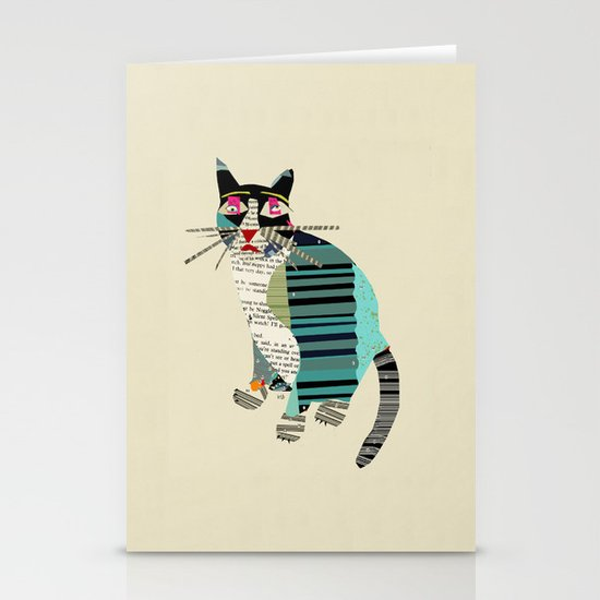 blackberry cat Stationery Cards