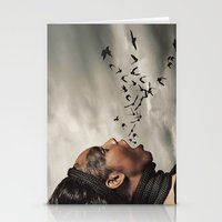 inner demons Stationery Cards featuring The Demons Within by Shaun Lowe