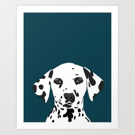 Ryan - Dalmatian art print phone case decor for pet lover and dog lover Art Print