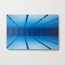 Underwater Empty Swimming Pool. Metal Print