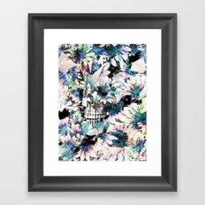 Floral Skull Framed Art Print
