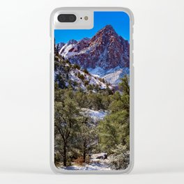 The_Watchman - Winter in Zion_National_Park, UT Clear iPhone Case