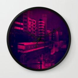 osaka pixel art Wall Clock