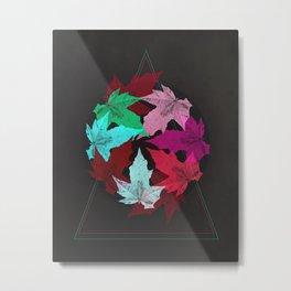 Leaves & Colors Metal Print