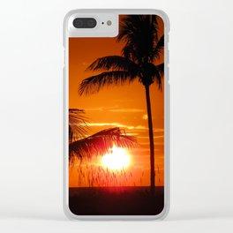 Beautiful Sunset II Clear iPhone Case