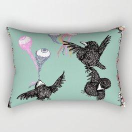 Crow Serie :: Eye Balloons (cria cuervos y te sacaran los ojos) Rectangular Pillow