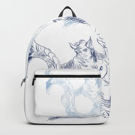 Mermay and merman together Backpack