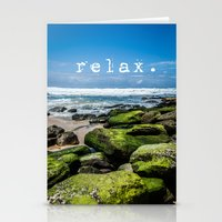 relax Stationery Cards featuring Relax by Michelle McConnell