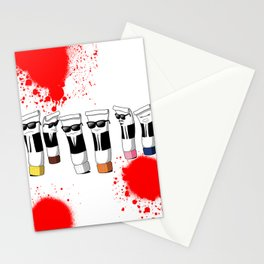 Reservoir Colours (with blood and light colored t-shirts) Stationery Cards