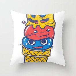 Slime Cone Throw Pillow