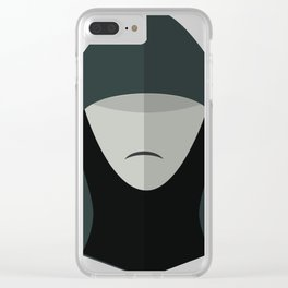 Cartoon Sith Lord Clear iPhone Case