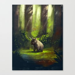 Bear unicorn Canvas Print