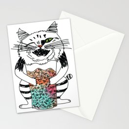 Emotional Cat. Playful. Stationery Cards