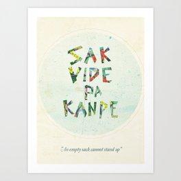 Sak Vide Pa Kanpe Art Print