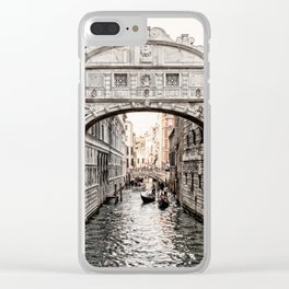 Bridge of Sighs, Venice, Italy (Lighter Version) Clear iPhone Case