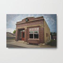 Former Bank, Kathryn, North Dakota Metal Print