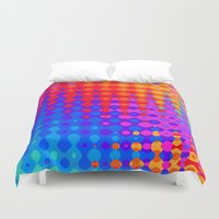 hippy Duvet Covers featuring Hippy Trippy Pattern by Kirsten Star