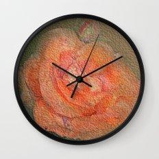rose frome the garden Wall Clock