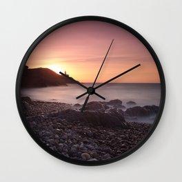 Dawn at Bracelet Bay Wall Clock